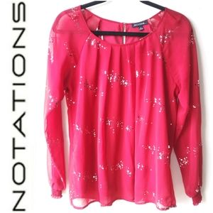 NOTATIONS BLOUSE - RED